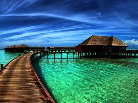 هتل های تفریحی در اقیانوس مالدیو