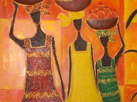 نقاشی زیبا از آفریقا
