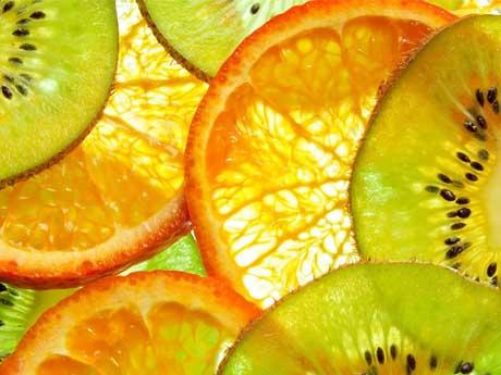 تکه های میوه