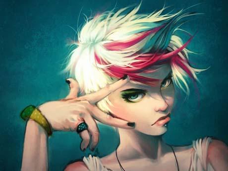 نقاشی دختر فشن