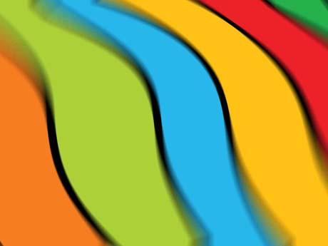 خطوط رنگارنگ