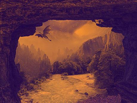 پس زمینه پرواز اژدها