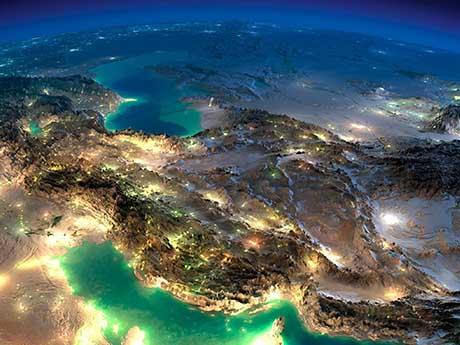 تصویر ماهواره ای ایران و خاورمیانه