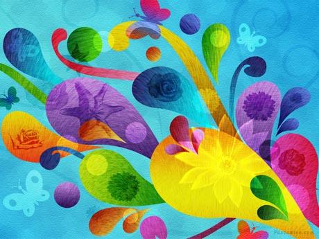 طرح گرافیکی رنگارنگ