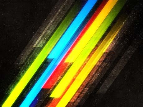 خطوط مورب رنگی