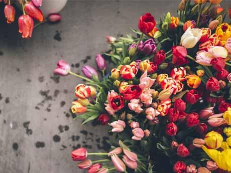 دسته گل لاله