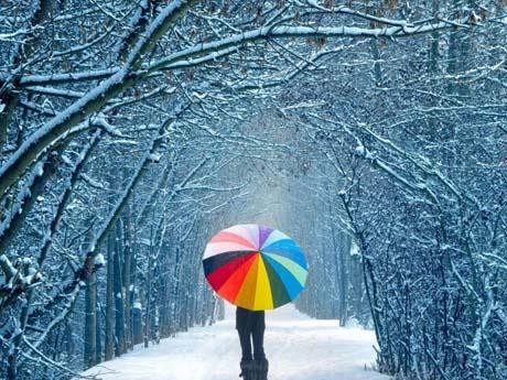 منظره زیبا زمستانی