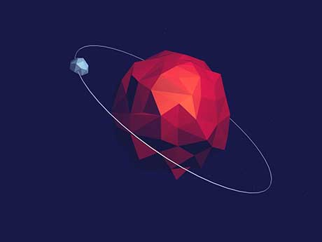 والپیپر مینیمال سیاره زحل