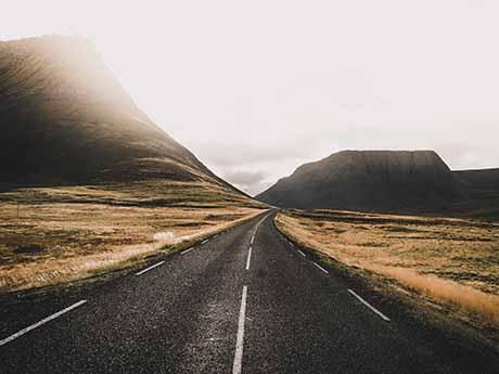 والپیپر جاده کوهستانی